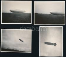 1931 Zeppelin Budapesten, Fotó, 7 Db, 6×8 és 8×11 Cm / Zeppelin Over Budapest, 7 Photos - Other Collections