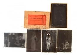 Cca 1947 Mosonyi Antalné (?-?), (Marika Fotó) Kiskunfélegyházi Műtermében Készült 18 Db Vintage üveglemez Negatív Polgár - Other Collections