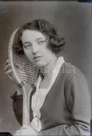 Cca 1936 Eger, A Fotó: GRÁF Egri Műteremben Készült, 13 Db Vintage üveglemez Negatív (viseletek, Szép Hölgyek, Katonák,  - Other Collections