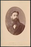 Cca 1880 Madrid, Alviach Y Compania Műtermében Készült, Magasfényű, Domborított, Porcelánkép Utánzatú Vintage Fotó, 16x1 - Other Collections