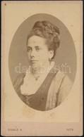 1875 Divald Károly (1830-1897) Eperjesi Fényképész Műtermében Készült, Vizitkártya Méretű, Vintage Fotó, 10,5x6,5 Cm - Other Collections