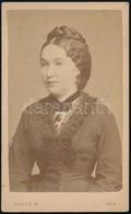 1876 Divald Károly (1830-1897) Eperjesi Fényképész Műtermében Készült, Vizitkártya Méretű, Vintage Fotó, 10,5x6,5 Cm - Other Collections