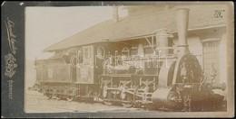 Cca 1911 A 326-os Sorozat 2251-es Pályaszámú Gőzmozdonya, Keményhátú Fotó Schmidt Ágoston Műterméből, 8×16 Cm - Other Collections