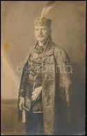 1923 Ismeretlen Férfi Díszmagyarban, Fotólap, Feliratozva, 9×13,5 Cm - Other Collections