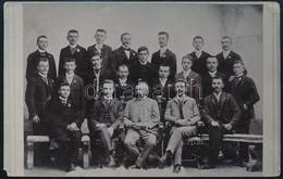 1904 Az Egri Vincellér Iskola Végzett Hallgatói és Tisztikara. Feliratozott Fotólap - Other Collections
