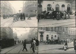 1956-os Fotók: Utcai Jelenetek, 12 Db Későbbi Előhívás, 10,5×14,5 Cm - Other Collections