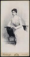 1900 Divald Károly (1830-1897) Eperjesi Fényképész Műtermében Készült Vintage Fotó, 21x11 Cm - Other Collections