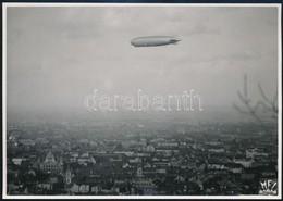 1931 A Zeppelin Budapest Fölött. MFI Fotó / Zeppelin Over Budapest 18x12 Cm - Other Collections