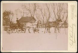 Cca 1900 Lovas életképek Hardenberg Gróf Sátoraljaújhelyi Birtokáról, 3 Db Keményhátú Fotó, 16×11 Cm - Other Collections