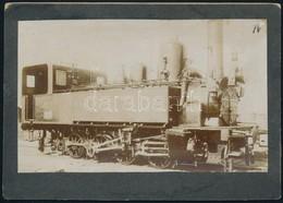 476-os Mozdony, Fotó, Kartonra Ragasztva, Hátulján Feliratozva, 10×16 Cm - Other Collections