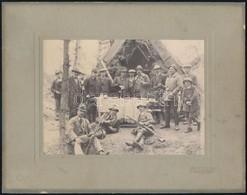 Cca 1910 Tapolca Környéki Vadászat. Fotó Kartonon  / Hunting Scene 24x19 Cm - Other Collections