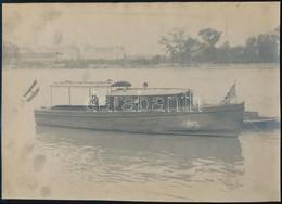 Cca 1910 Margitka Kis Géphajó Nagyméretű Fotója 29x21 Cm - Other Collections