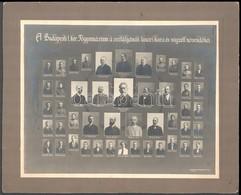 Cca 1914 Budapest, I. Ker. Főgymnázium Tanárai és Végzett Tanulói, Kistabló Nevesített Portrékkal (több Diák Már Katonai - Other Collections
