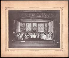 Cca 1900 Kolozsvár, Dunky Fivérek Felvétele A Kolozsvári Színház Társulatáról, 16,7x22,8 Cm, Karton 25x30 Cm - Other Collections