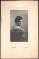 1910 Kassa, Komjáthy Jánosné Dedikált Fényképe, átadó Mappában, Kemény J. Kassai Műterméből, 18x10 Cm, Karton 32,5x22 Cm - Other Collections