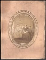 Cca 1860 Családi Fotó, 16x12 Cm, Karton 29,5x23 Cm - Other Collections