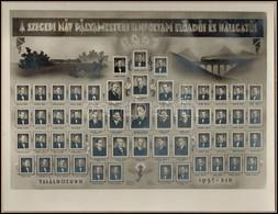 1941 Szegedi MÁV Pályamesteri Előadói és Hallgatói. 1941, Tablófotó Kartonon, Szeged, Székely Fotóműterem, Kissé Foltos  - Other Collections