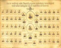1942 A  M. Kir. Rendőrség Vidéki Főkapitányságának Szombathelyi Tanosztályánál Rendőr Altiszti Tanfolyamot Végzett Rendő - Other Collections