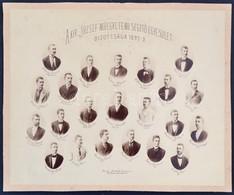 1893-1894 Kir. József Műegyetem Segítő Egyesületének Bizottsága, 1892/1893 és 1893/1894 Tablófotói, Tablófotó Kartonon,  - Other Collections