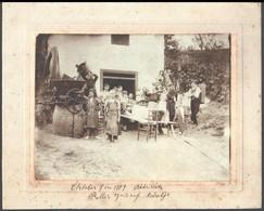 1909 Bátaszék, Reller József Szüretje, Nagyméretű Fotó / Grape Picking 30x24 Cm - Other Collections