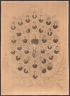 1890 A Kolozsvári R. K. Főgimnázium Végzett Növendékeinek Tablófotója, 1889-1890, Rajta: Kol Ferenc (1869-1939) Későbbi  - Other Collections