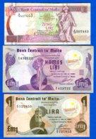 Malte  3  Billets   Dans  L'etat - Malta