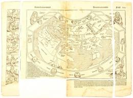 1493 Secunda Etas Mundi - VIlágtérkép. Az Amerika Felfedezése Előtti Világot ábrázoló Fametszetű Térkép Hartmann Schedel - Mappe