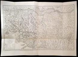 Bosznia és Hercegovina Térképe ,,Das Koenigreich Bosnien Und Die Herzegovina (Rama)'  Wien, 1788. Schrämbl. Határszíneze - Mappe