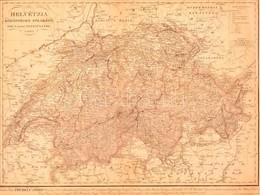 Helvétzia Közönséges Földképe XXII (Canton) Egyesületre Osztva' Hely: Pest, 1835. Karacs Ferencz Határszínezett Rézmetsz - Mappe