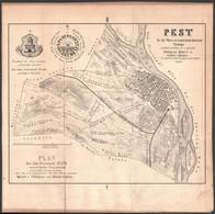 1852 Pest Sz. Kir. Város és Határának átnézeti Térképe, Szerk.: Palugyay Ignác -- Lukács Ignác, Kőnyomatos Magyar és Ném - Mappe