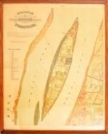 1872 Halácsy Sándor (1837-1885): 'Pest Buda Közt Fekvő Szt. Margit Sziget Térképe', Német Nyelven, Színes Litográfia, Bu - Mappe