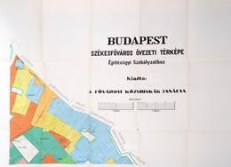 Cca 1910 Budapest Székesfőváros övezeti Térképe. Építésügyi Szabályzathoz. 1:125.000, Színes, Négy Térkép Szelvény, Szel - Mappe