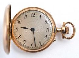 14 K Arany, Női Zsebóra. Vésett Tokkal, Működő, Szép állapotban, óratartó Dobozzal / 14 C Women's Golden Pocket Watch In - Unclassified