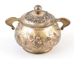 Antik Ezüst Cukordobozka Rózsás Díszítéssel  Ausztria 1824. Jelzett. JB Mesterjeggyel / Antique Silver Sugar Box Hallmar - Unclassified