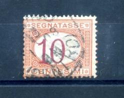 1890-1894 REGNO SEGNATASSE VARIETA' CIFRA SPOSTATA 10 Centesimi - 1878-00 Humbert I.