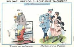 Humoristique - Illustrateur - Guillaume - Prends Chaque Jour Ta Quinine - D 0094 - Guillaume
