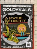 """Antico Adesivo Da Valigia """"N.Y. STATUE OF LIBERTY"""" Stickers Aufkleber Autocollants In Condizioni: Ottime Come Da Foto. - Other"""