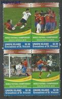 Union Islands 2011 Mi Vie526-529 MNH ( ZS2 SVUvie526-529 ) - Football