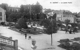 B57841 Cpa Guéret - Le Jardin Public - Guéret