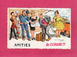51 Marne, Rare, Amitiés De CORMICY, Illustration Signée Chaperon Jean, Humoristique,  (G. Picard) - Frankrijk