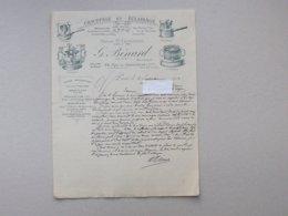 PARIS: Lettre à En-tête 1910 CHAUFFAGE Et ECLAIRAGE BENARD (fondée En 1886) - Réchaud Lampe... - Rue Des Amandiers - Francia