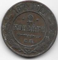 Russie - 2 Kopeks - 1874 - Rusia