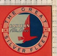 "Antico Adesivo Da Valigia ""THE CREAT SILVER FLEET"" Stickers Aufkleber Autocollants - Other"