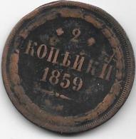 Russie - 2 Kopeks - 1859 - Rusia
