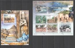 B257 2012 MOZAMBIQUE MOCAMBIQUE ORGANIZATIONS UNESCO ARCHITECTURE CULTURES 1SH+1BL MNH - Monuments