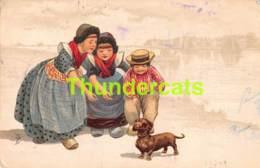 CPA ILLUSTRATEUR CHIEN DACHSHUND TECKEL DACKEL ARTIST SIGNED DOG - Autres Illustrateurs