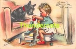 CPA ILLUSTRATEUR GERMAINE BOURET CHIEN DOG ARTIST SIGNED - Bouret, Germaine