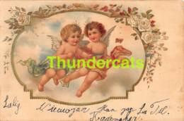 CPA LITHO GAUFREE ILLUSTRATEUR FILLE ENFANT CHILD GIRL ANGE ANGEL (  STYLE CLAPSADDLE - BRUNDAGE ) - Autres Illustrateurs