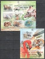 B260 2012 MOZAMBIQUE MOCAMBIQUE FAUNA WILD ANIMALS JARDIM ZOOLOGICO DE RIGA 1SH+1BL MNH - Stamps
