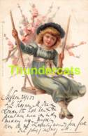 CPA LITHO ILLUSTRATEUR  RAPHAEL TUCK  FILLE GIRL LITHO CARD  (  STYLE CLAPSADDLE - BRUNDAGE ) - Tuck, Raphael